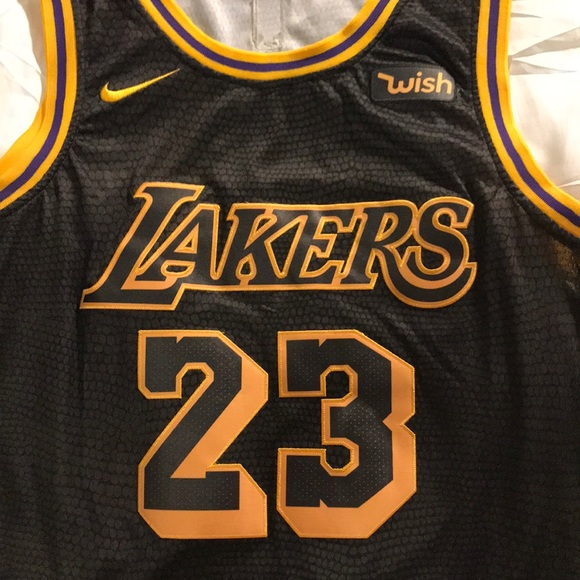 newest collection f28e0 c224b LeBron James Swingman Lakers Black Jersey
